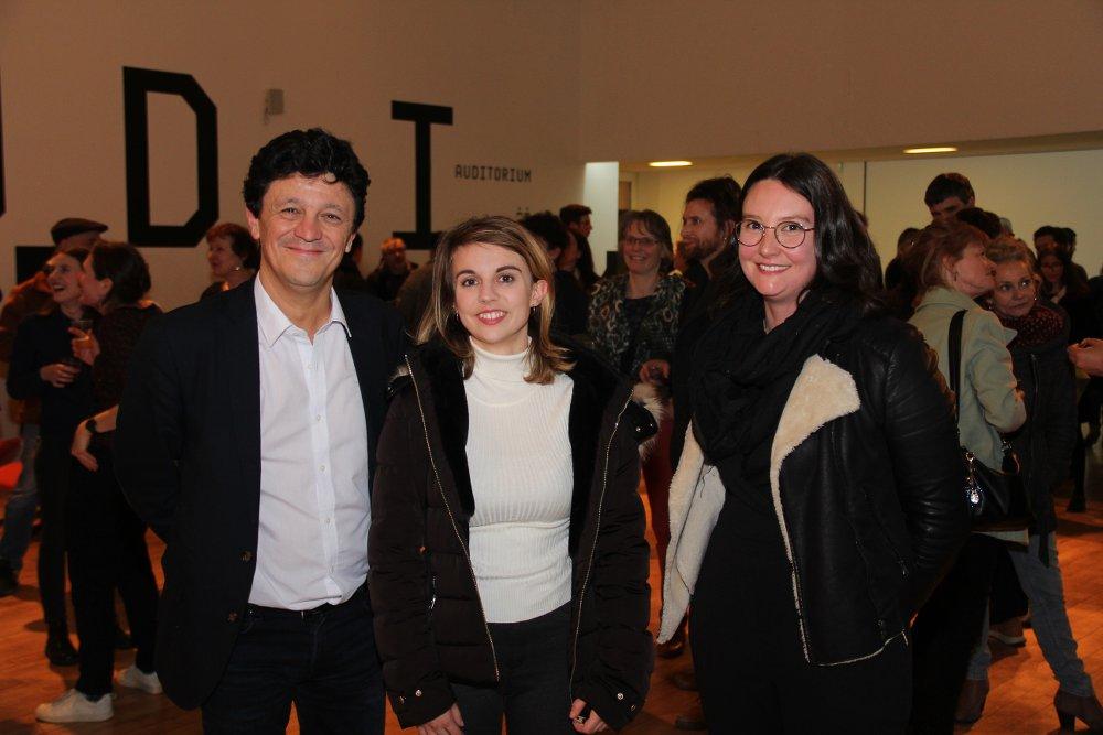 Jean-Louis Gavatorta (OCE), lisa Heute (compositrice), Pauline Le Coley (IFAC)